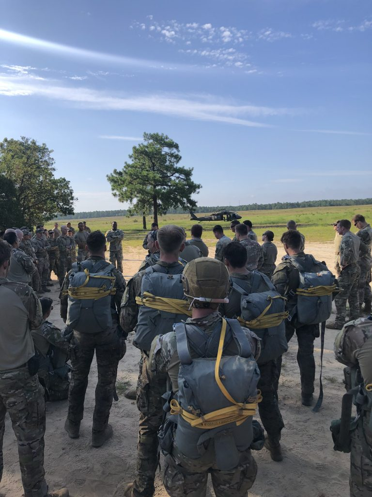 The unit ready for a jump exercise